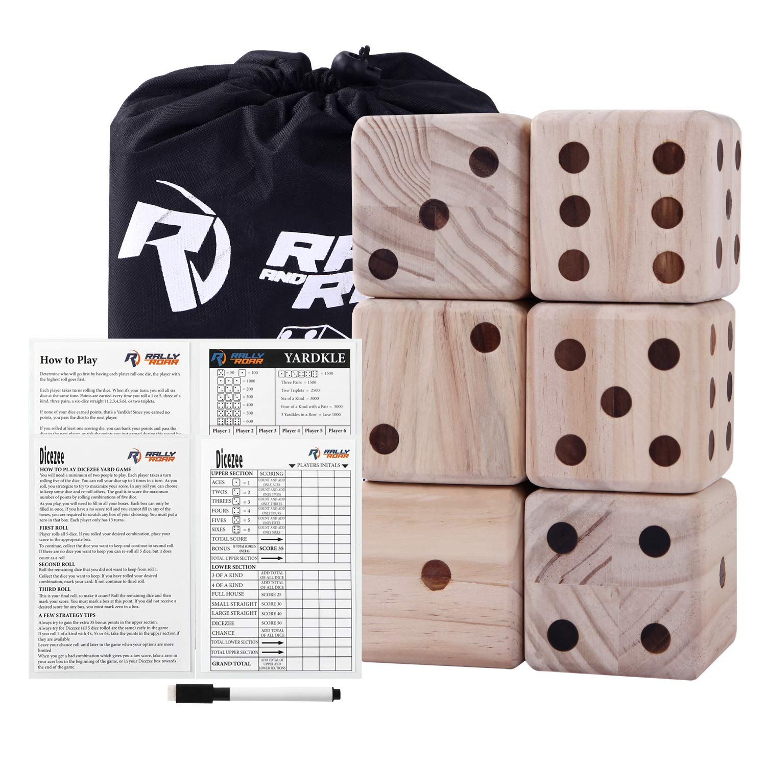 Giant Dice Game Set For Adults Kids Families Outdoor Wooden Dice Games Sets Fun Interactive Clean Family Games Clean Interactive Activities