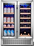 Aobosi 24 Inch Beverage and Wine Cooler Dual