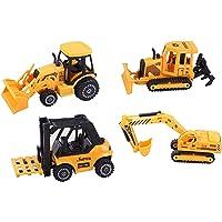 ToyZe Juego de vehículos de construcción de metal