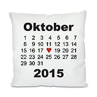 Kissen mit Motiv Modell: Herztag Kalender