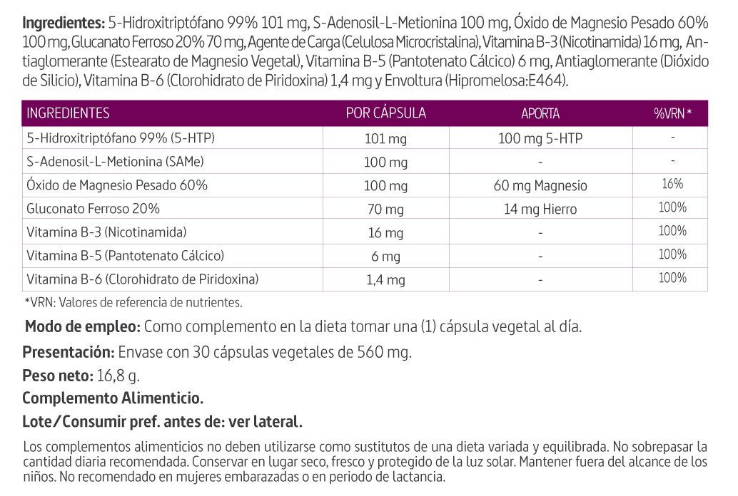 Nature Essential Tryptoseron Complex - 30 Cápsulas: Amazon.es: Salud y cuidado personal
