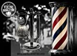 Black Safety Razor Stand - Razor Holder and Shaving Brush Stand to Prolong the Life of Your Razor - Weighted Bottom for Extra Stability