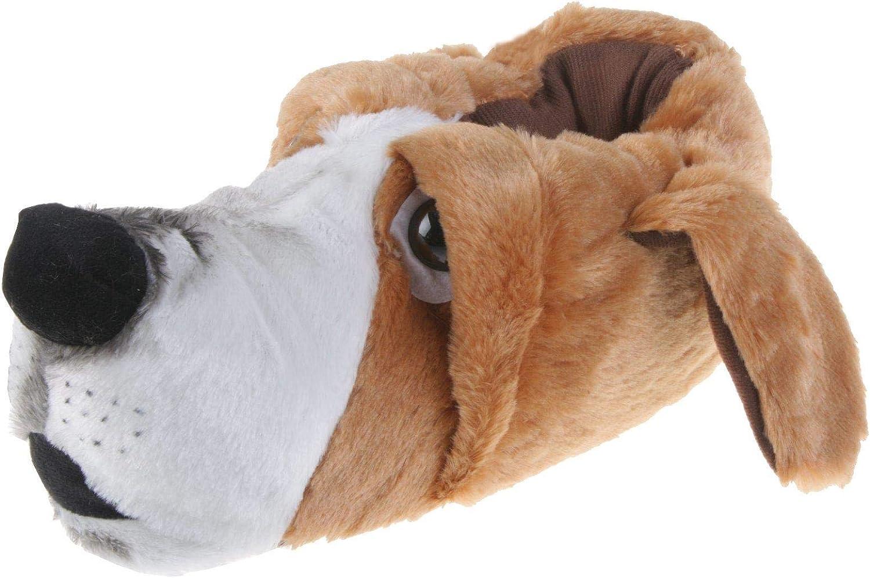 Tierhausschuhe Herren Hausschuhe Hund Army Grau
