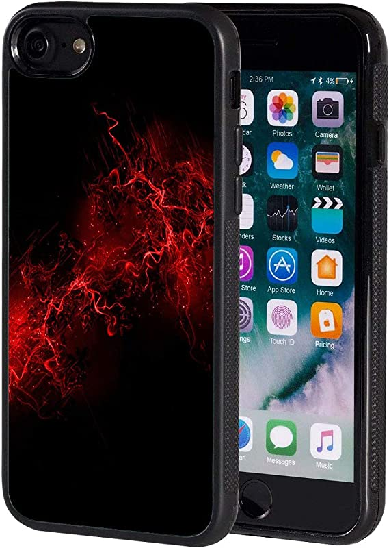 Amazon Com Iphone Se2 Case Black And Red Anti Scratch Shock Proof Black Tpu And Pc Protection Case Cover For Apple Iphone Se 2020 4 7 Inch