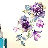 Happy Walls 'Beautiful Flower Bunch with Buds' Wall Décor Sticker PVC (75 cm X 60 cm)