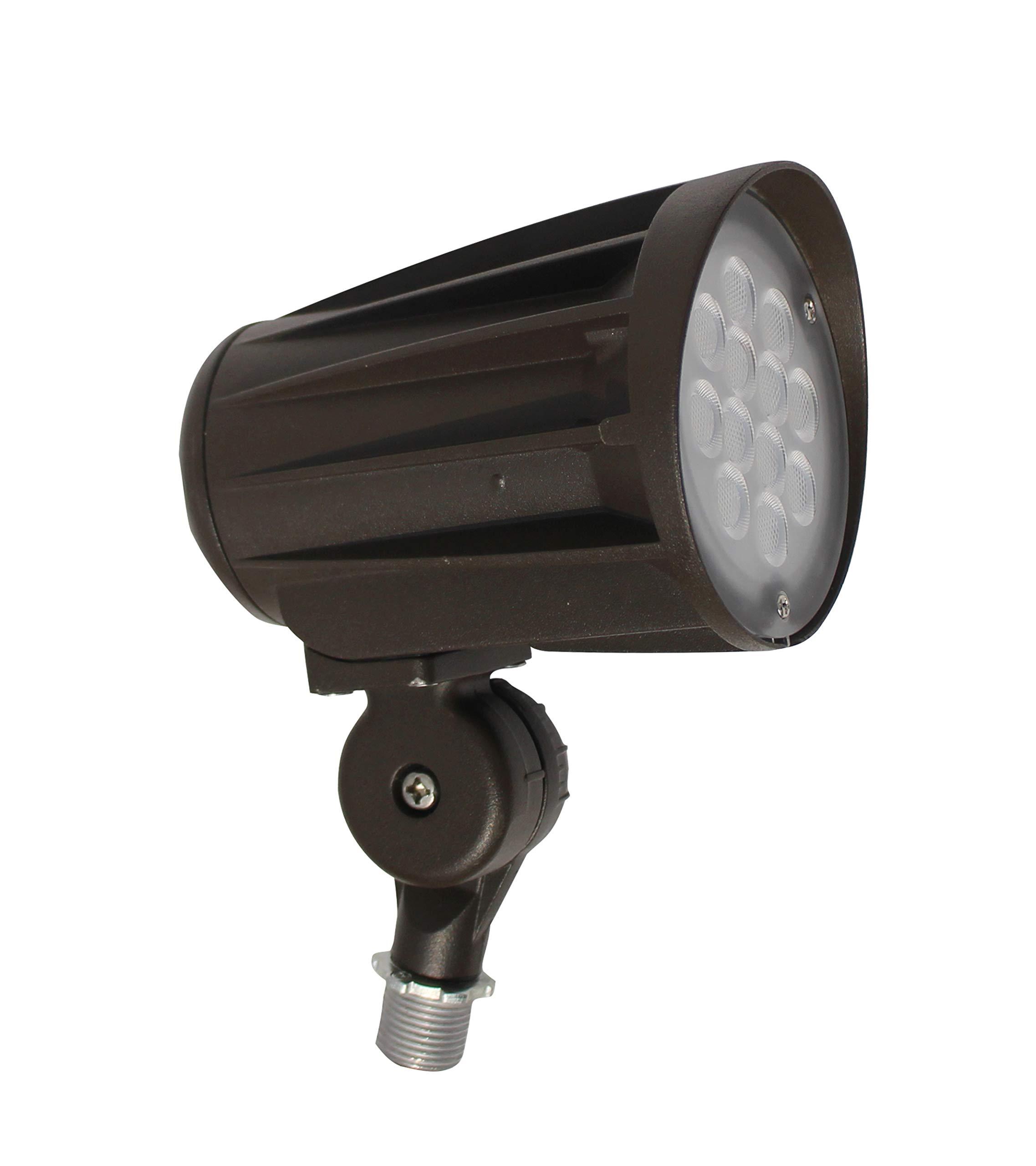 LEDrock DLC-Listed LED 28 Watt Exterior Landscape Light, 4000K Neutral White, 120V-277V, Comparable to 100-150W MH-HPS, 3200 Lumens, Threaded Box Mount, UL-Listed, Warranty Based in Denver, CO, USA