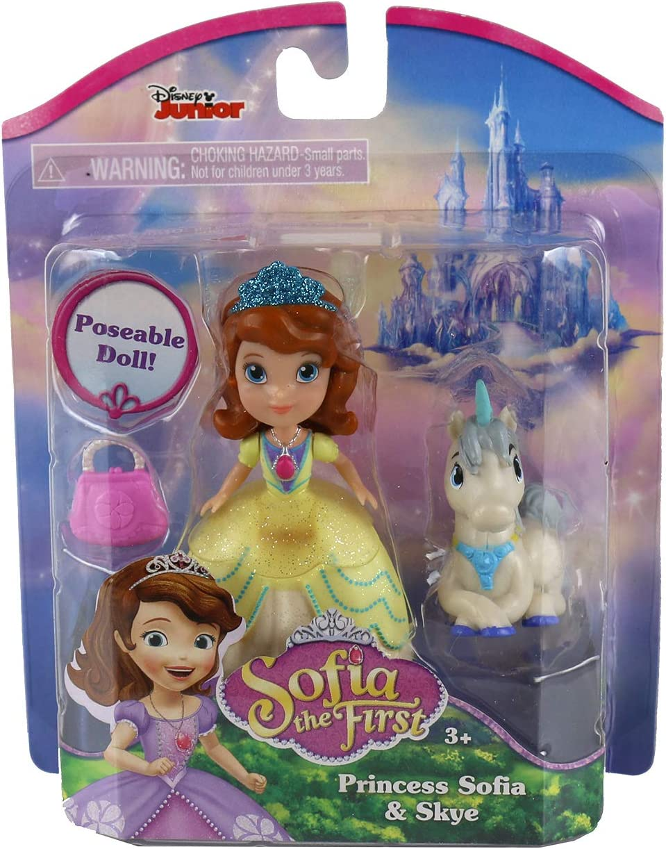 """Disney/'s Sofia The First 3/"""" Poseable Doll Lot Of 3~ Free Shipping!"""