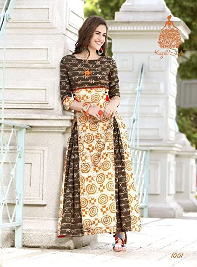 315f4cc2d3 Designer Kajal Style Long Kurti (Diva Vol. 1): Amazon.in: Clothing &  Accessories