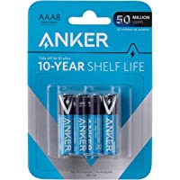Anker AAA Alkaline Batteries 8-pack - Black