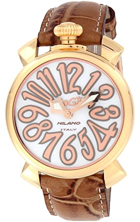 cd26d14f1d [ガガミラノ]GaGa MILANO 腕時計 MANUALE 40mm ホワイトパール文字盤 ステンレス(PGPVD)