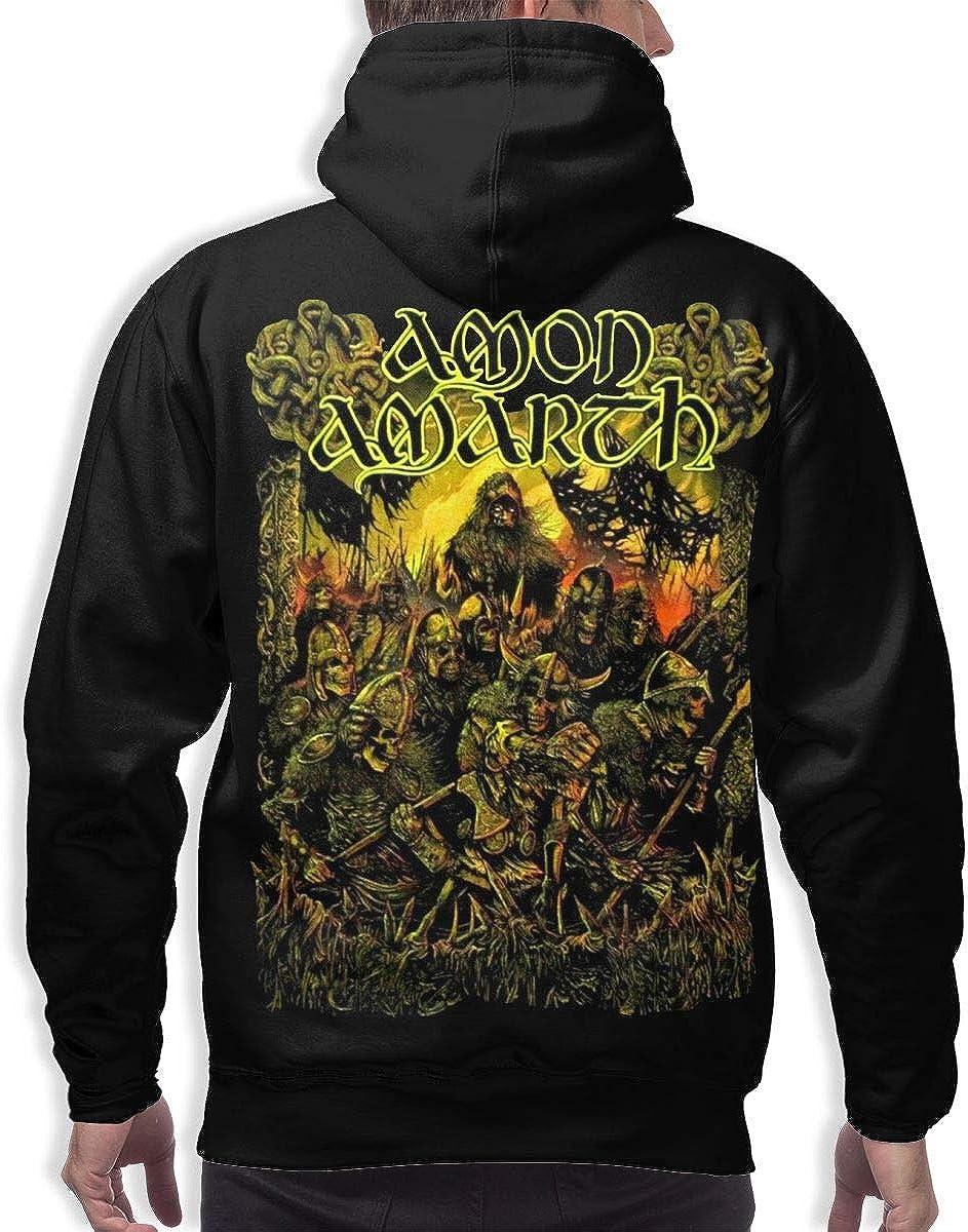 Fashion Drug Hoodies Men/'s Amon Amarth Long Sleeve Athletic Sweatshirt Pullover with Pocket