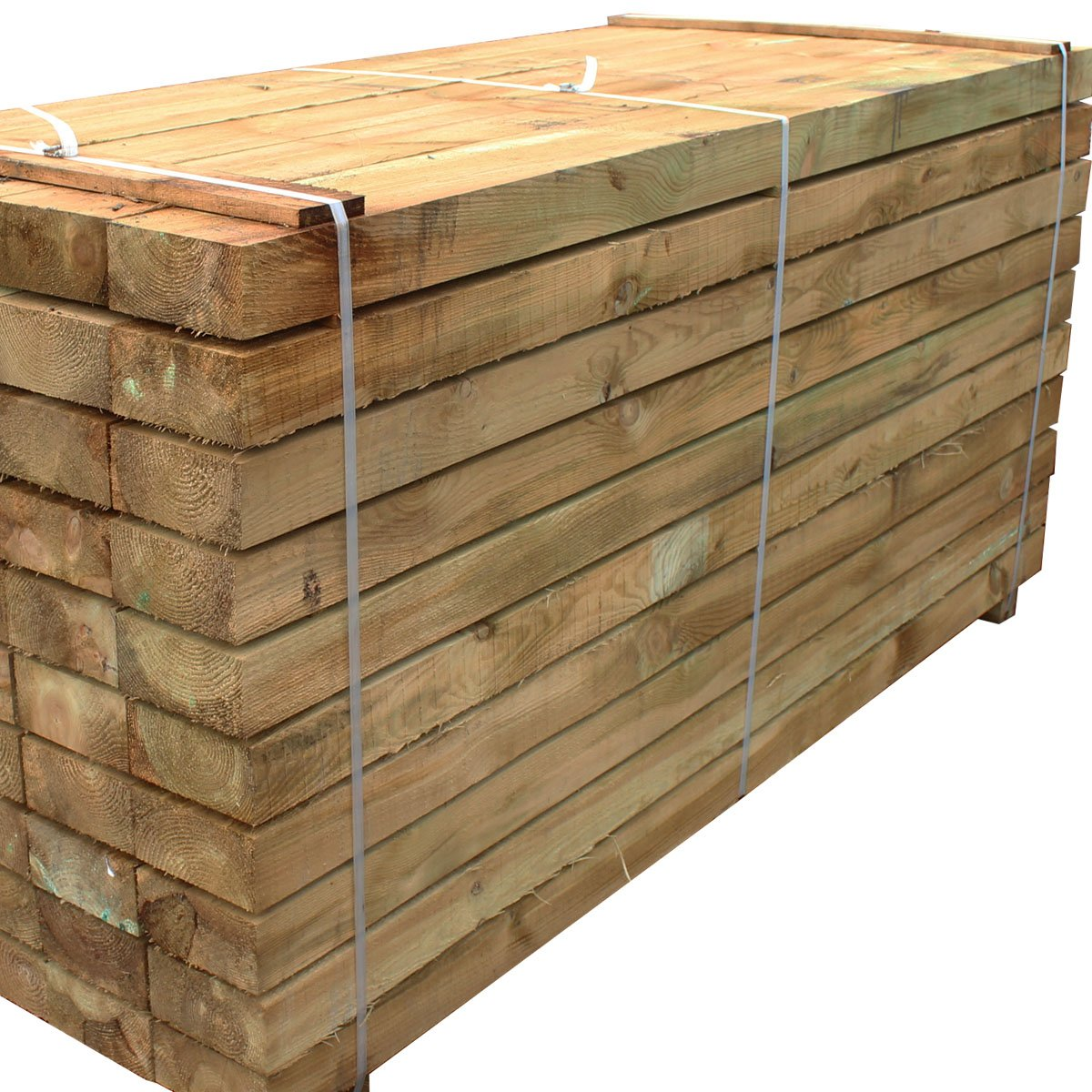 Suregreen Tanalised Treated Softwood Timber Railway Sleeper 200x100MM  Thick, 2 4m