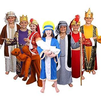 ILOVEFANCYDRESS Disfraz de rey mago para niños: Amazon.es ...
