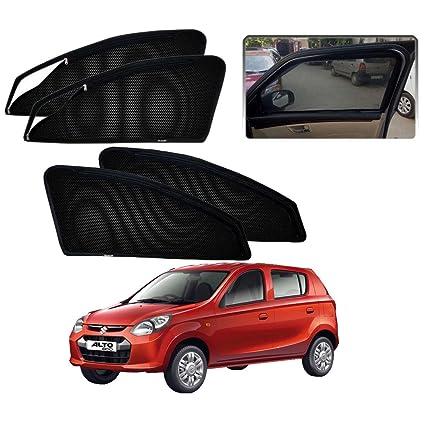 Casotec Magnetic Window Sun Shades for Maruti Suzuki Alto-800 - Set of 4 -  with Zipper  Amazon.in  Car   Motorbike 7f19682e5ae