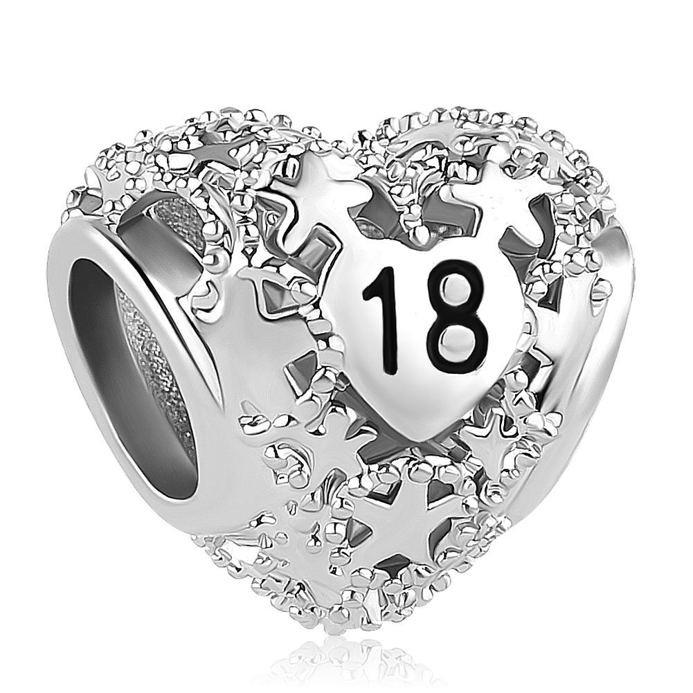 Pandora I Love You Bracelet Bead Charm Silver 18Th