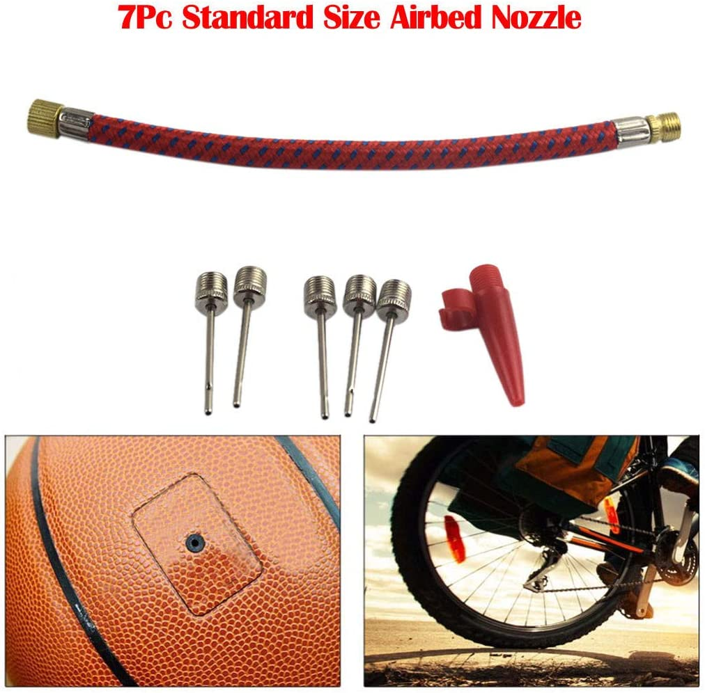 Inflating Needles  Air Hose Air bed Nozzle HOSE SPORTS BALL BIKE Inflator KitLF