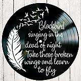 Blackbird song lyric art/inspired by