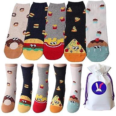 klassische Stile Neu werden verschiedene Arten von Lebensmittel Neuheit Mannschafts Socken mit Beutel Packung ...