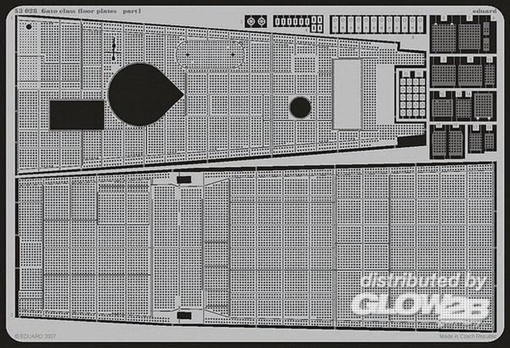 Eduard Accessories Gato class floor plates Für Revell Bausatz