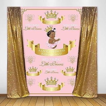 Amazon Com Mehofoto Royal Princess Baby Shower Backdrop Pink Crown