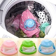 Yvonne - Bolsa de filtro de lavadora reutilizable para quitar el pelo, bolsa de malla flotante, bolsa de filtro portátil para la colada