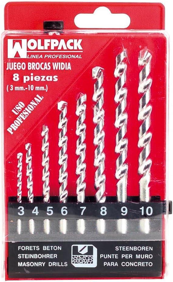 WOLFPACK LINEA PROFESIONAL 9060797 Estuche Brocas Widia Profesional Wolfpack 8 Piezas: Amazon.es: Bricolaje y herramientas