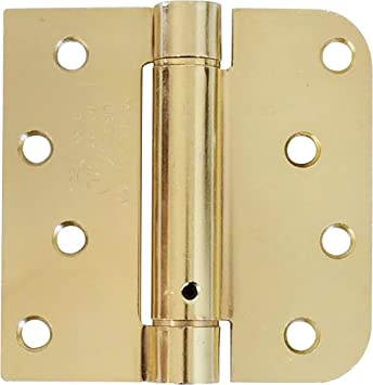 Hinge Outlet Spring Self Closing Hinges 4 Inch Square With 5 8 Inch Bright Brass Adjustable Door Closing 2 Pack Amazon Com