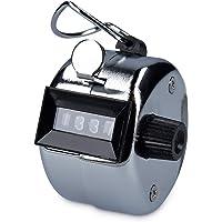 kwmobile Compteur manuel mécanique - Clic main pour compte de personnes ou points - Scoreur sport manifestation - Boîtier en métal à 4 chiffres
