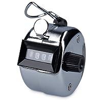 kwmobile Handzähler Counter Klicker Schrittzähler - Mechanischer Mengenzähler ohne Batteriebetrieb - Metallgehäuse mit Ring für Fingerhalt