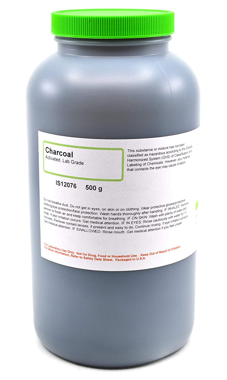 Laboratory-Grade Activated Charcoal, 500g - The Curated Chemical Collection