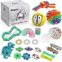 Anpro 24 st Fidgetleksaker, sensoriska leksaker för autism ADHD-människor, stressbollar ångestlindring, stressavlastning…