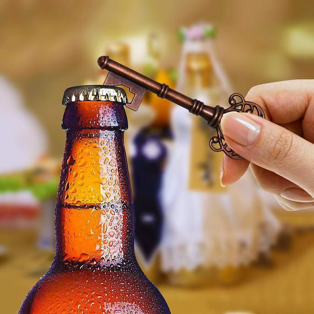 Weihnachten Party Bankett Bar Liefert Vintage Style Dekoration DIY Kraftpapier Geschenkanh/änger Hochzeit Gef/älligkeiten Bier/öffner ZJW 50 st/ücke Antik Schl/üssel Flaschen/öffner
