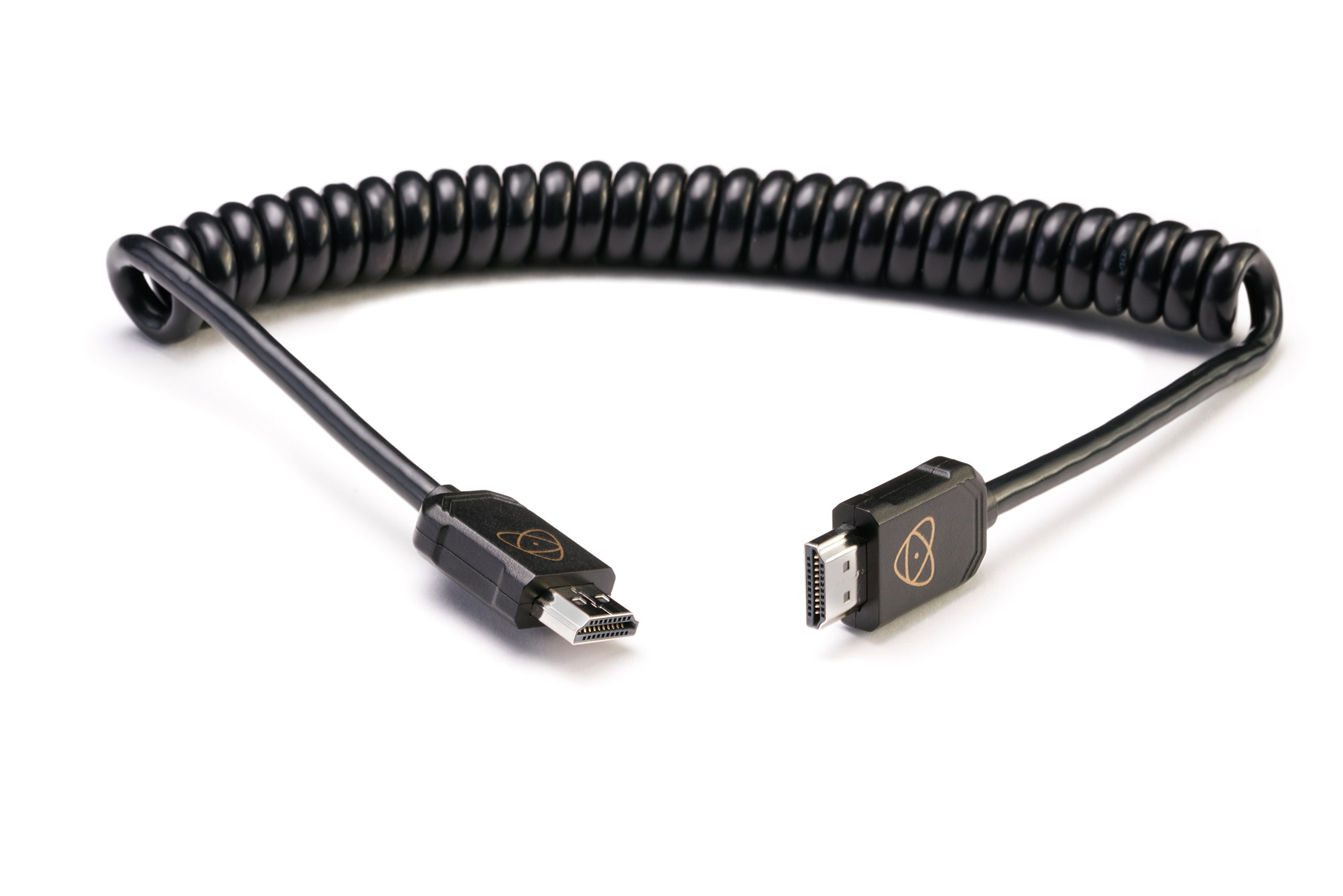 Atomos HDMI Full to HDMI Full Coiled Cable, 40cm/16'' Coiled (80cm/32'' Extended)