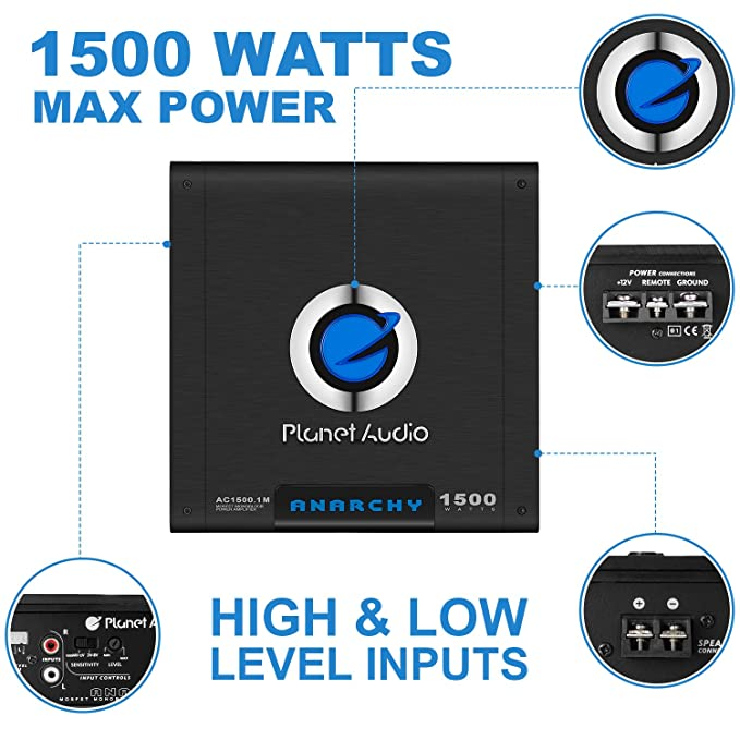 Amazon.com: Planet - Amplificador de audio para coche con ...
