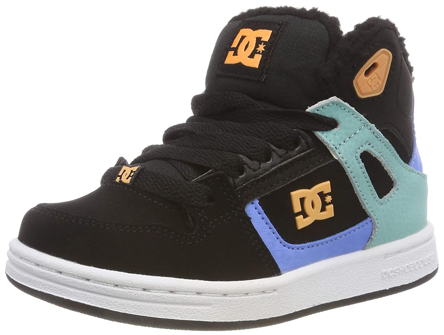 DC Shoes Pure Fille High Top Winter, Chaussures de Skateboard Fille Pure 31 EU|Multicolore (Black/Multi/White Kmw) 3d37fd