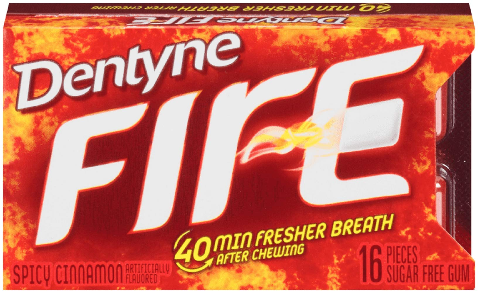 CADBURY ADAMS USA Dentyne Fire Gum, Spicy Cinnamon, 0.0500-Ounce Boxes (Pack of 24)