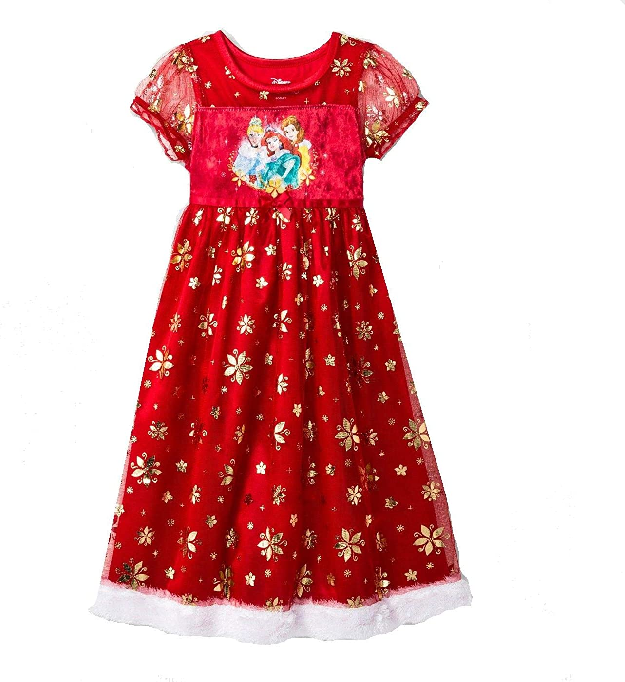 Toddler Disney Princess Dress Up Gown Holiday Nightgown~Belle//Cinderella//Ariel