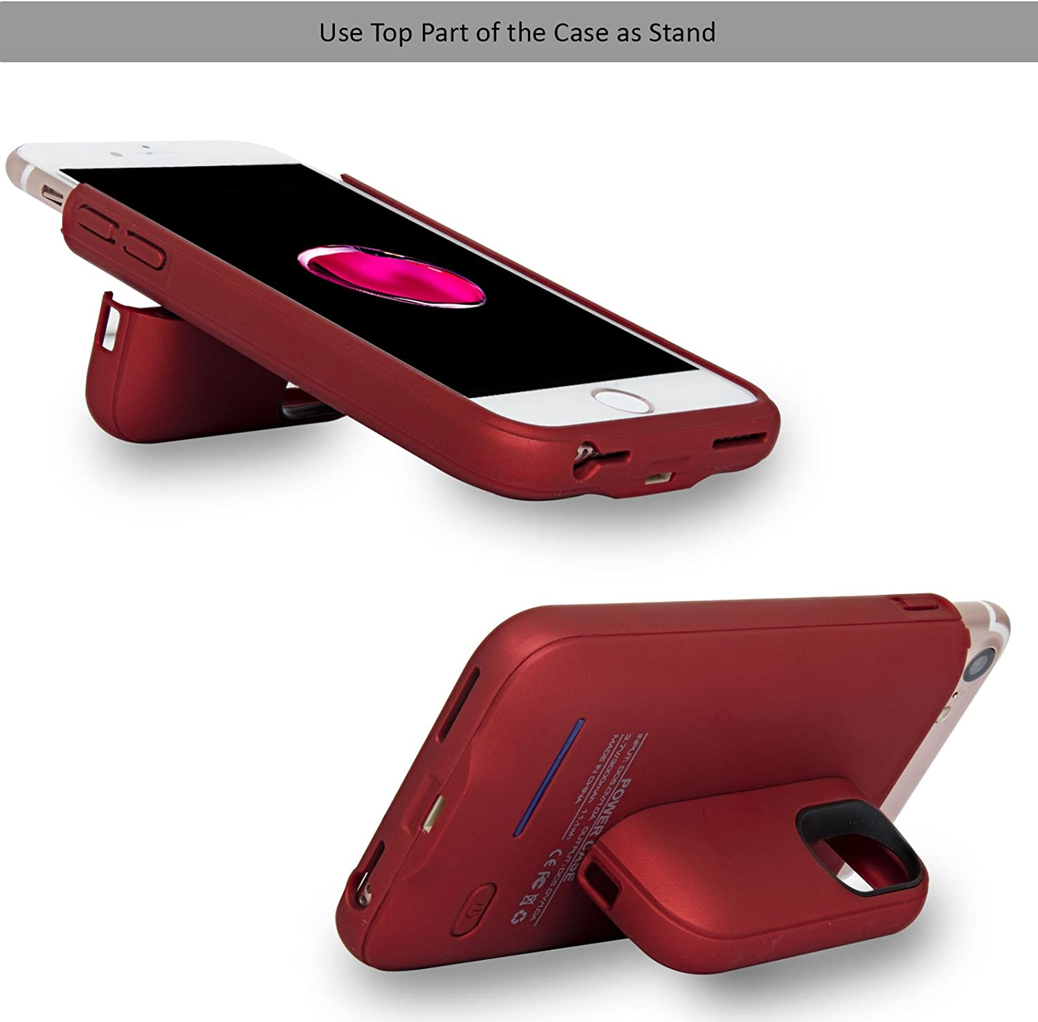 Navor RFID Folio Wallet Magnetic Detachable Power Battery Case 4200mAh for iPhone 7 Plus 8 Plus Rose Gold 6 Plus 5.5 Inch