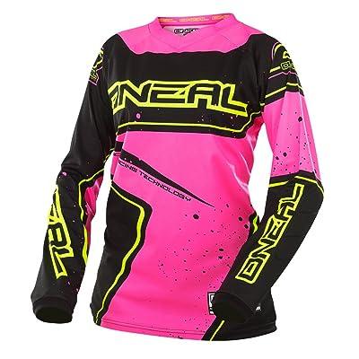 O'Neal Yth Element Girls Racewear Jersey (Black/Pink/Hi-Viz, Large)