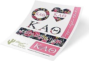 Kappa Alpha Theta Classic Floral Sticker Decal Laptop Water Bottle Car Theta (Sheet C. Floral)