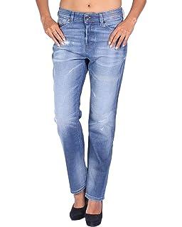 7fd53b18 Diesel Reen 0844T Stretch Women's Jeans Trousers Regular Straigh ...