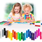 MayMoi Washable Tempera Paint Sticks | Non-Toxic, Quick Drying & No Mess Paint Sticks for Kids (24 Bright Colors)