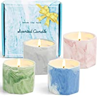 DERDUFT Scented Candles, Soy Wax Candles Gift Set, Aromatherapy Candles with Marble Exterior Design, 4×2.0oz, Including…