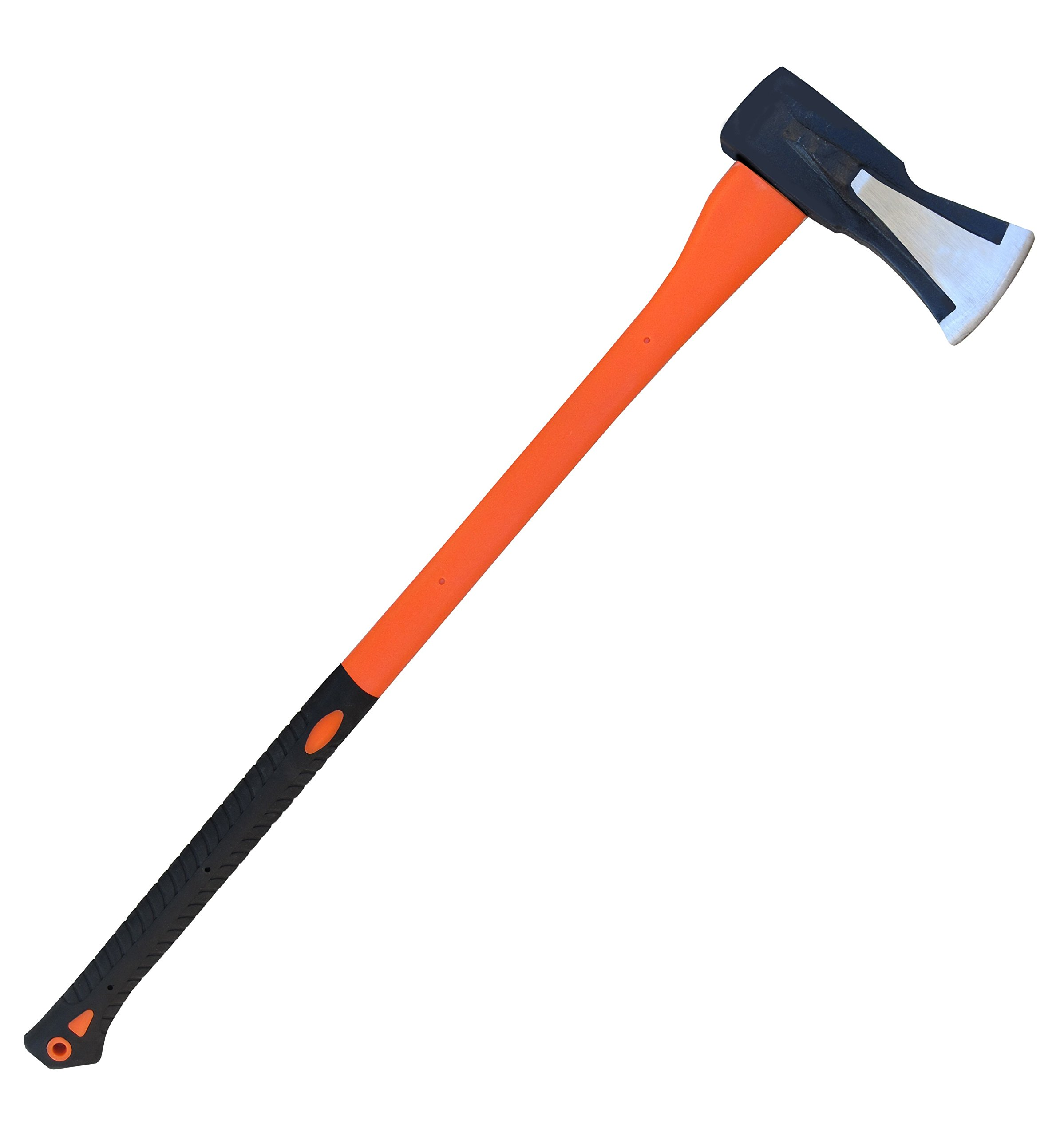 TABOR TOOLS J55A Splitting Axe, 35 Inch Wood Splitting Maul with Strong Fiberglass Handle and Anti-Slip Grip (Splitting Axe, 9 lb, 35 inch)
