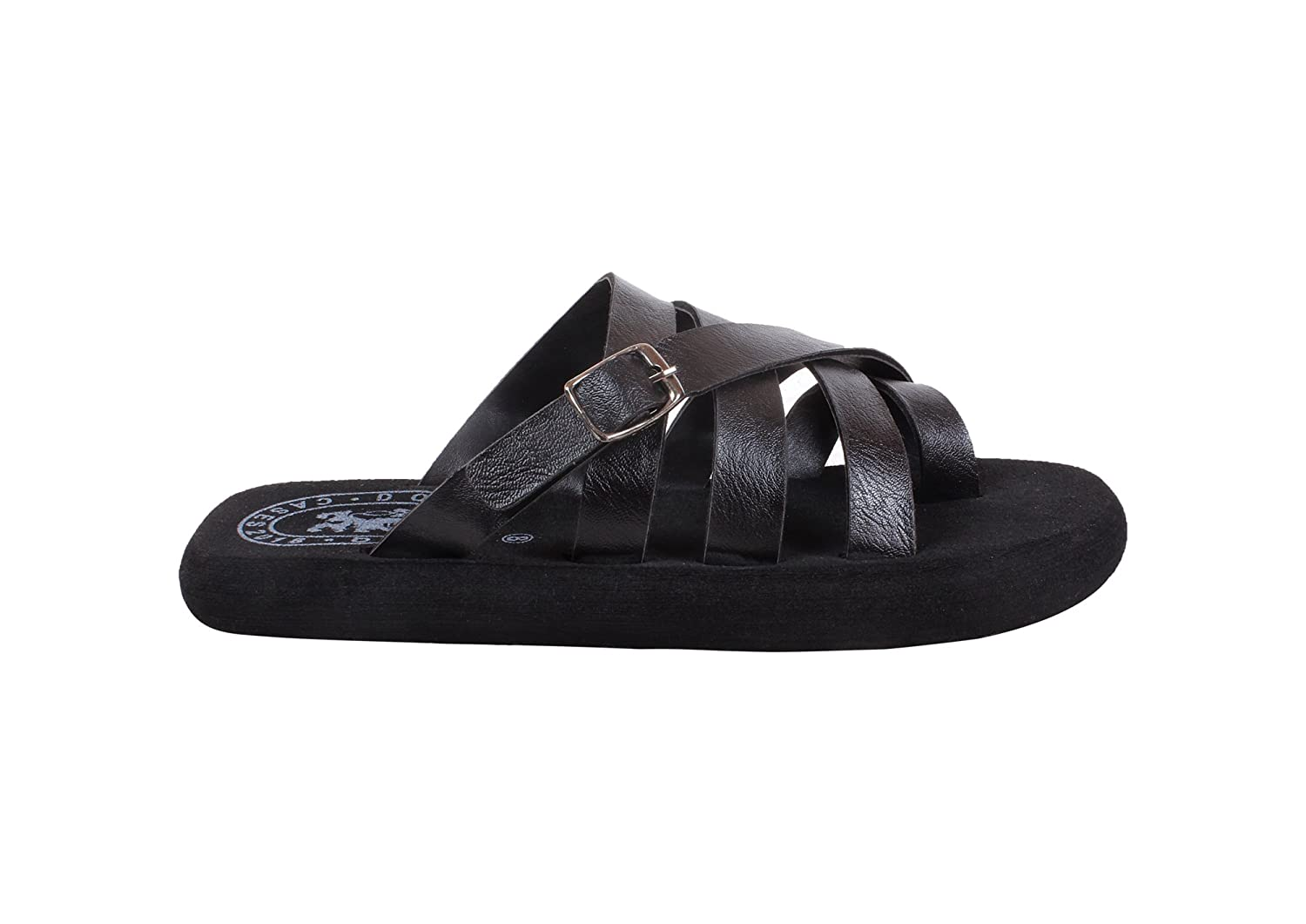 9495eef7da1ce DOMESTIQ Stylish Men s Black Color Flip-Flops and House Slippers Synthetic   Buy Online at Low Prices in India - Amazon.in