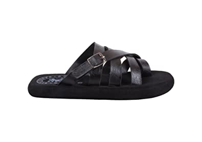 faa45d86f8271 DOMESTIQ Stylish Men s Black Color Flip-Flops and House Slippers Synthetic  (Size - 6