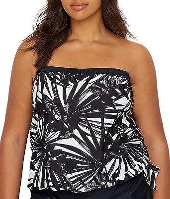 39ef514059137 Maxine Of Hollywood Women s Plus-Size Bandeau Tankini Swimsuit Top ...