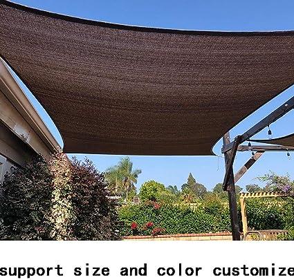 GuoWei Marrón Oscuro Velas de Sombra 90% Protector Solar Malla Respirable con Ojales Jardín Plantas Al Aire Libre Personalizable (Size : 3x4m): Amazon.es: Jardín