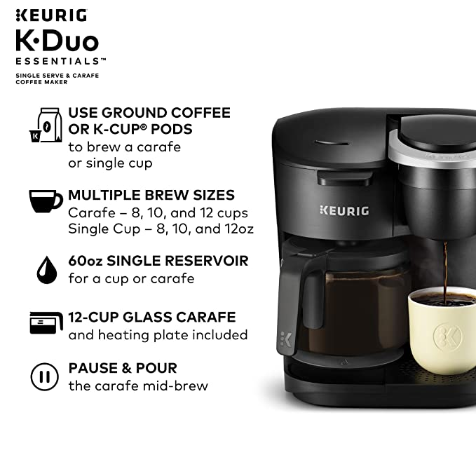 Amazon.com: Keurig K-Duo Essentials Coffee Maker, with ...