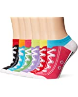 6 Pack Novelty No Show Socks